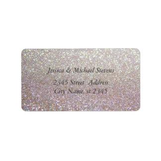 Elegant chic luxury glittery look label