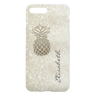 Elegant chic moden luxury faux glittery pineapple iPhone 8 plus/7 plus case