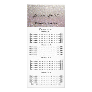 Elegant chic modern luxury faux glittery menu card