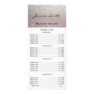 Elegant chic modern luxury faux glittery menu card rack card template