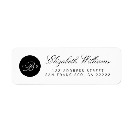 Elegant Chic Monogram Return Address Labels