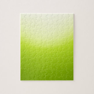 Elegant & Chic Ombre Yellow and Green Watercolor Jigsaw Puzzle