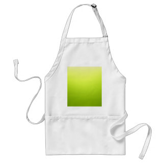 Elegant & Chic Ombre Yellow and Green Watercolor Standard Apron