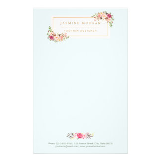 Elegant Chic Pastel Watercolor Floral Boutique Flyer