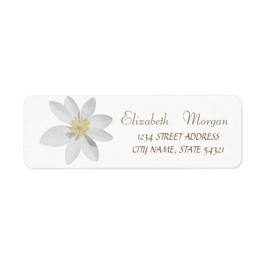 Elegant Chic Simple,White Daisy ,Address Label Return Address Label