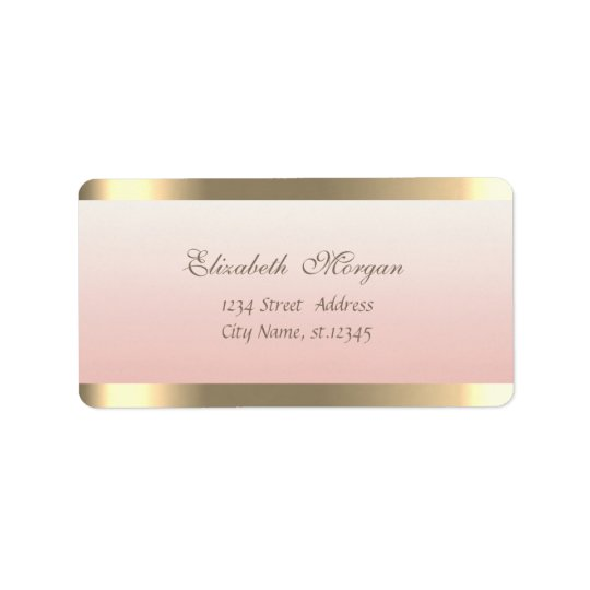 Elegant Chic  Sophisticated,Faux Gold Stripes Label