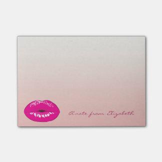 Elegant Chic  Stylish Girly , Lips Post-it Notes