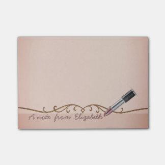 Elegant Chic  Stylish Girly , Lipstick Post-it Notes