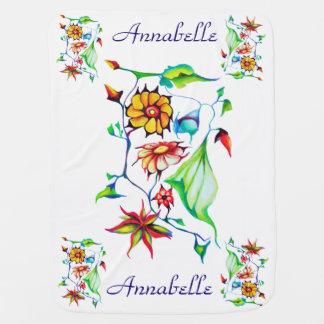 Elegant Chic Whimsical Enchanting Exotic Floral Baby Blanket