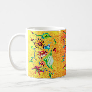 Elegant Chic Whimsical Enchanting Exotic Floral Coffee Mug