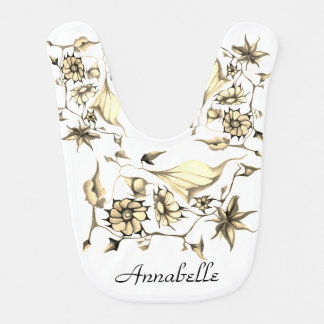 Elegant Chic Whimsical Enchanting Exotic Sepia Bib