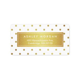 Elegant Chic White Gold Glitter Polka Dots