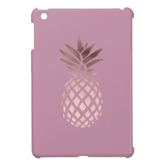 elegant chick clear rose gold tropical pineapple iPad mini cover