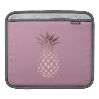 elegant chick clear rose gold tropical pineapple iPad sleeve