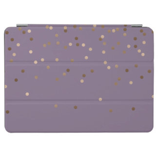 elegant chick glam rose gold confetti dots violet iPad air cover