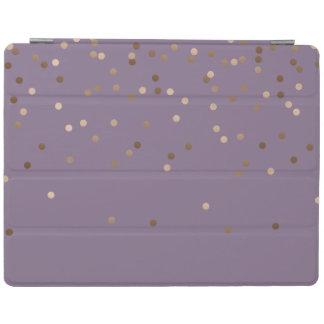 elegant chick glam rose gold confetti dots violet iPad cover