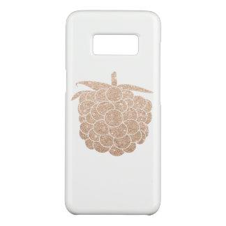 elegant chick rose gold glitter berry Case-Mate samsung galaxy s8 case