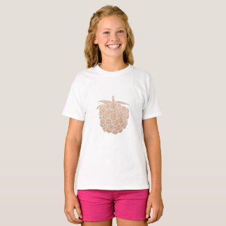 elegant chick rose gold glitter berry T-Shirt