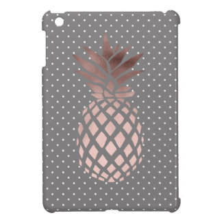 elegant chick rose gold pineapple polka dots case for the iPad mini