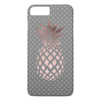 elegant chick rose gold pineapple polka dots iPhone 8 plus/7 plus case