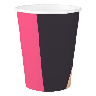 elegant chick rose gold pink grey color block paper cup