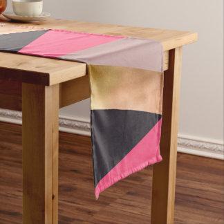 elegant chick rose gold pink grey color block short table runner