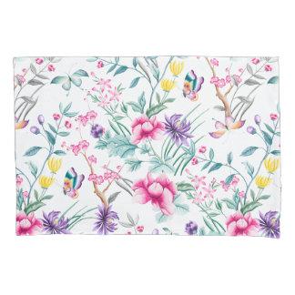 Elegant Chinoiserie Floral & Butterflies Pillowcase