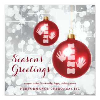 Elegant Chiropractic Holiday Flat Christmas Cards