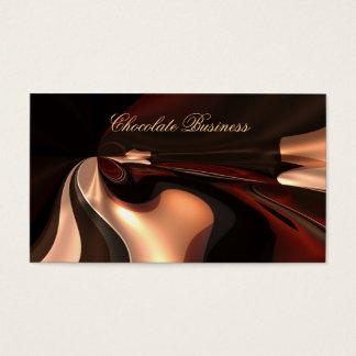 Elegant Chocolate Swirl Cream Brown Profile Business Card