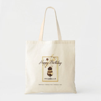 Elegant Chocolate Vanilla Drink Birthday Tote Bag
