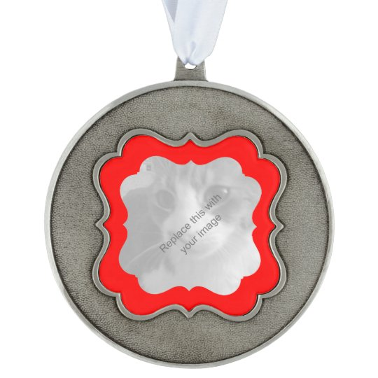 Elegant Christmas any occasion Scalloped Pewter Ornament
