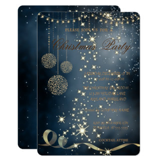 Elegant Christmas Balls,Christmas Party Card