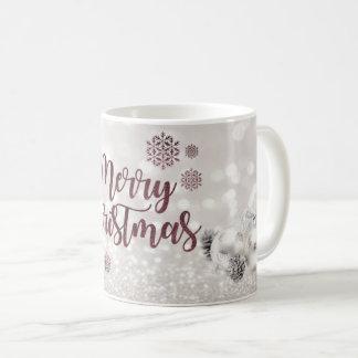 Elegant,Christmas Balls ,Glittery Bokeh Coffee Mug