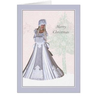 Elegant Christmas Card, Winter Lady Card