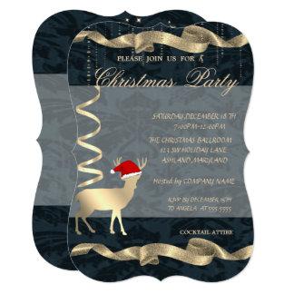 Elegant Christmas Deer Santa Hat,Christmas Party Card