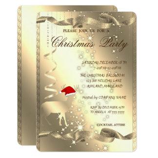 Elegant Christmas Deer,Sparkle,Christmas Party Card