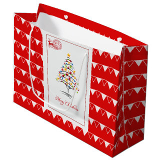 Elegant Christmas Gift Bag - Large