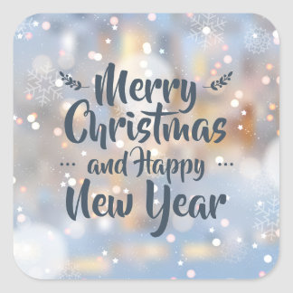 Elegant Christmas & Happy New Year   Sticker Seal