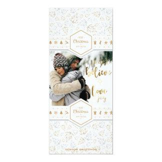 Elegant Christmas Love Photo Card