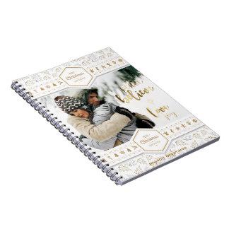 Elegant Christmas Love Photo Notebook