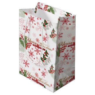 Elegant Christmas Medium Gift Bag