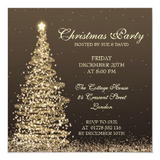 "Elegant Christmas Party 5.25"" Square Invitation Card"