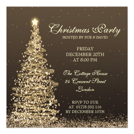 Elegant Christmas Party Personalized Announcement