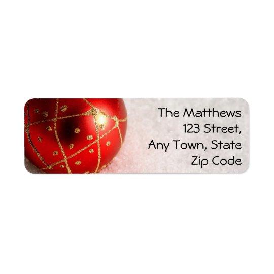 Elegant Christmas Return Address Labels