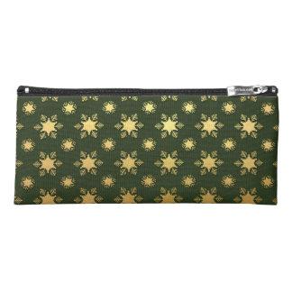 Elegant Christmas Snowflake Gold Foil Pattern Pencil Case