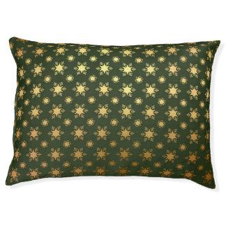 Elegant Christmas Snowflake Gold Foil Pattern Pet Bed