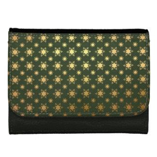 Elegant Christmas Snowflake Gold Foil Pattern Wallets For Women