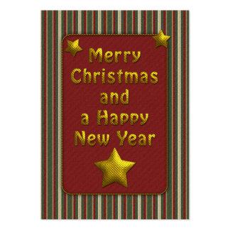 Elegant Christmas Tag Large Business Card