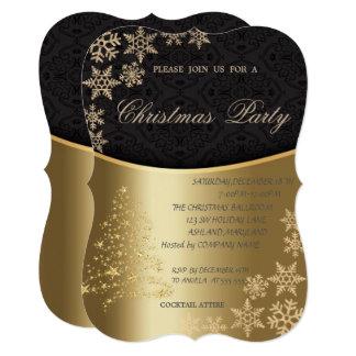Elegant Christmas Tree,Corporate Christmas Party Card
