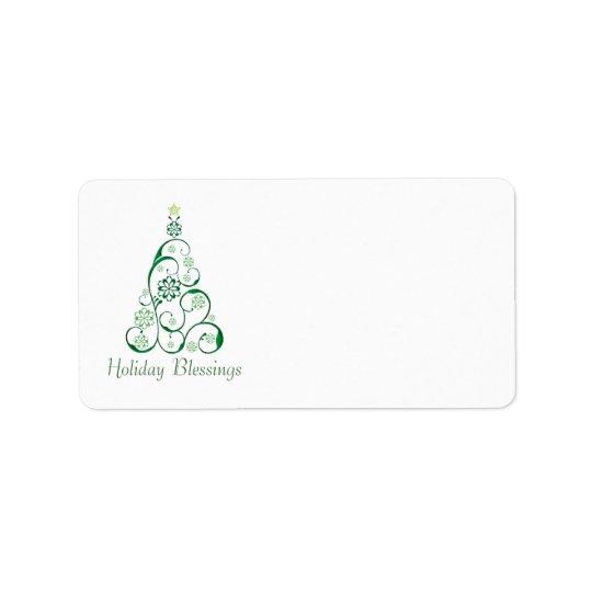Elegant Christmas Tree Label